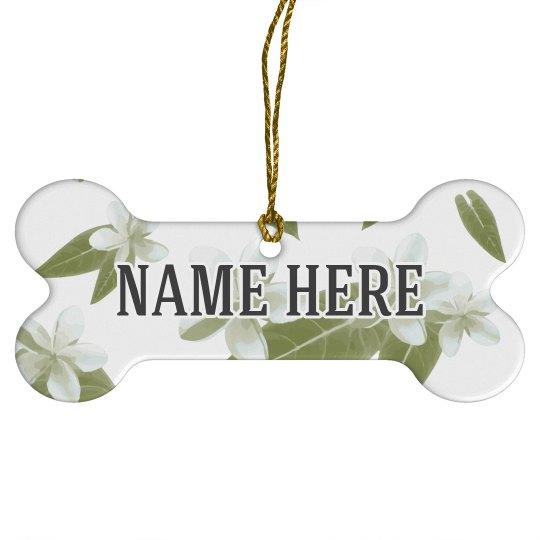 Custom Name Floral Dog