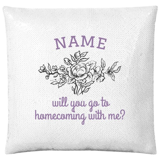 Custom Name Floral Homecoming Pillow