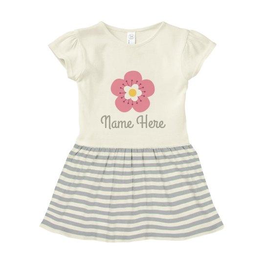Custom Name Flower Infant Dress