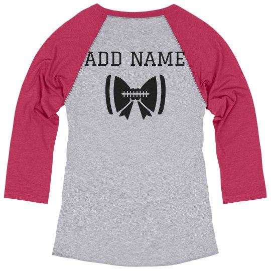 Custom Name Football Cheerleader