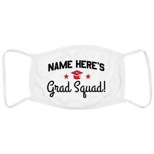 Custom Name Grad Squad Mask