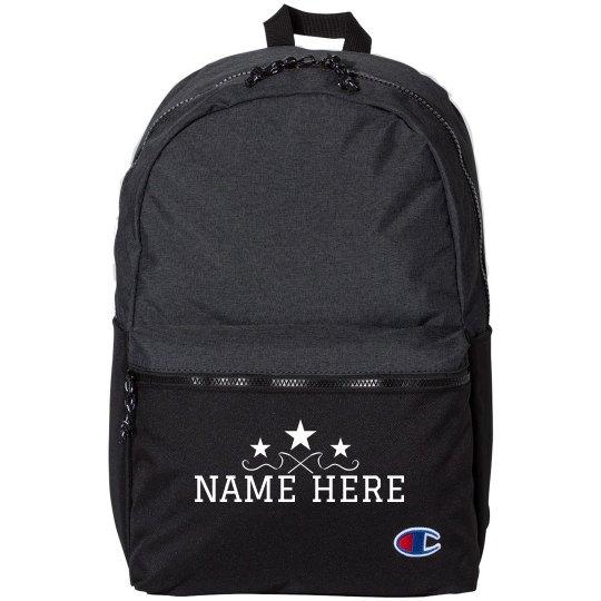 Custom Name Gym Ribbon Backpack