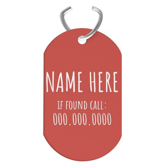 Custom Name Long Dog Tag