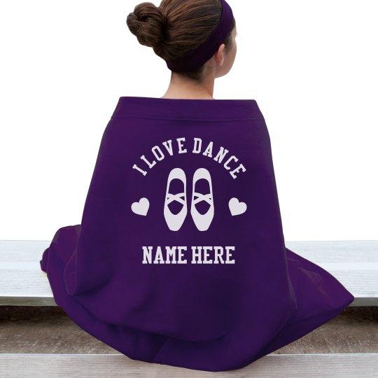 Custom Name Love Dance Blanket
