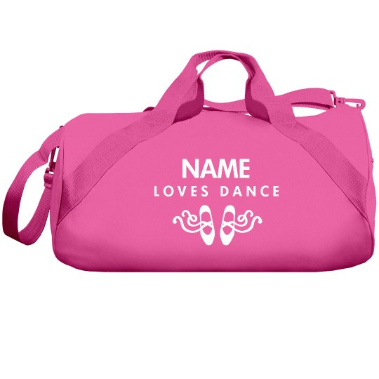 Custom Name Loves Dance Bag
