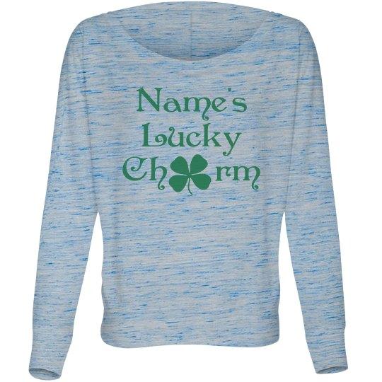 Custom Name Lucky Charm Clover