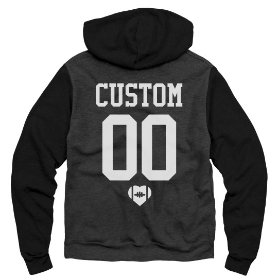 Custom Name Number Back Football GF