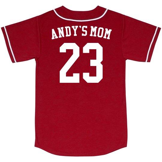 Custom Name Number Baseball Mom