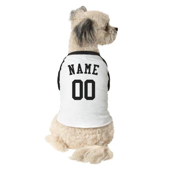 Custom Name Number Dog Athlete