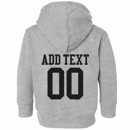 Custom Name Number Jersey Toddler Hoodie