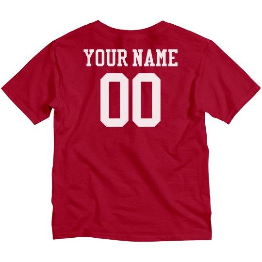 Custom Name Number Kids Tee