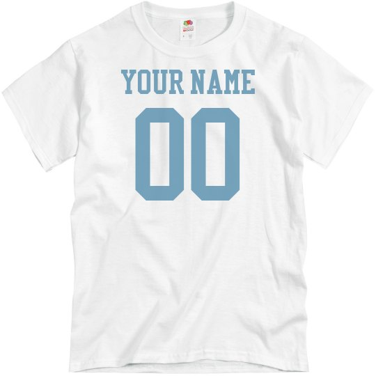 Custom Name Number Light Blue Family