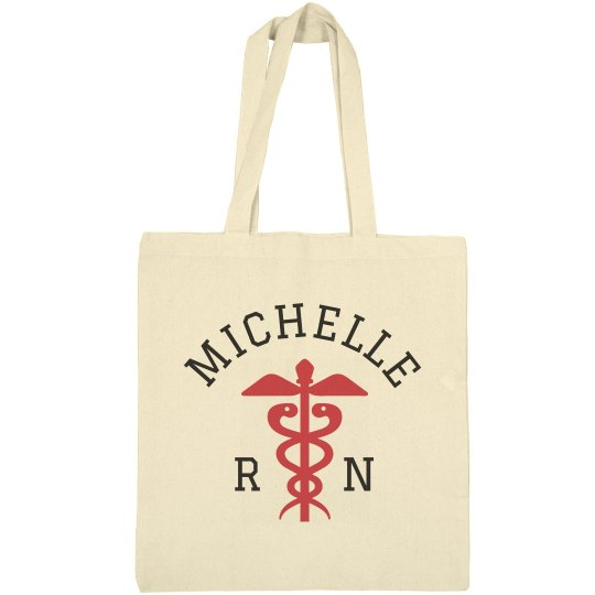 Custom Name Nursing Tote Bag