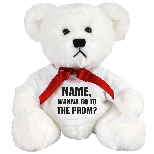 Custom Name Prom Bear Question