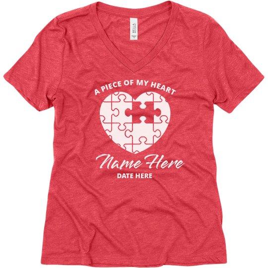 Custom Name Puzzle Heart Memory Top