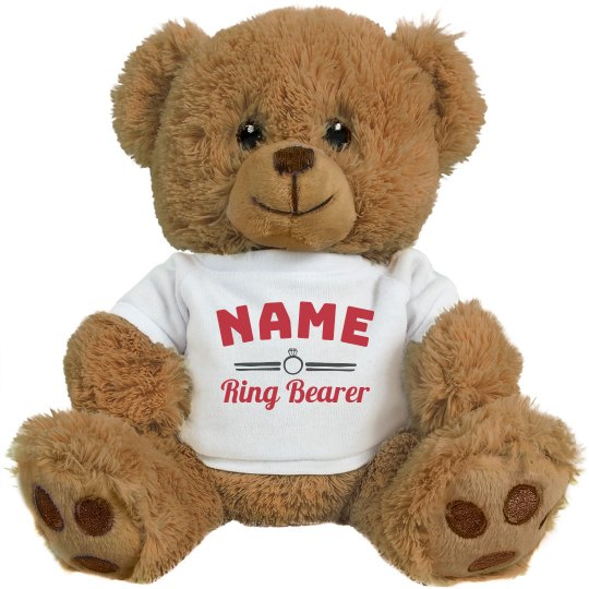 Custom Name Ring Bear