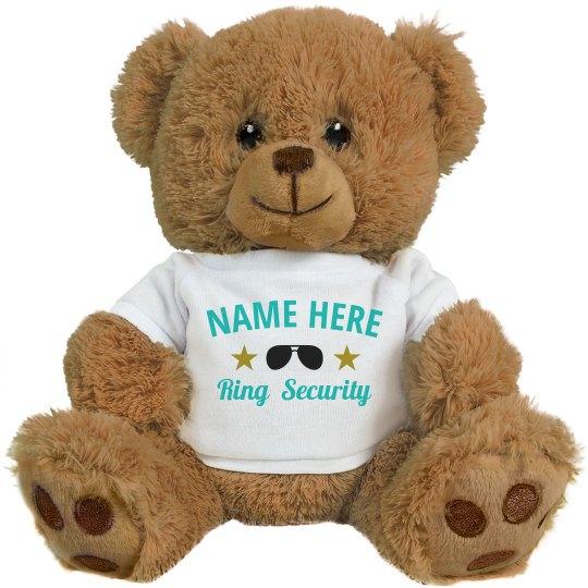 Custom Name Ring Bearer Security Bear