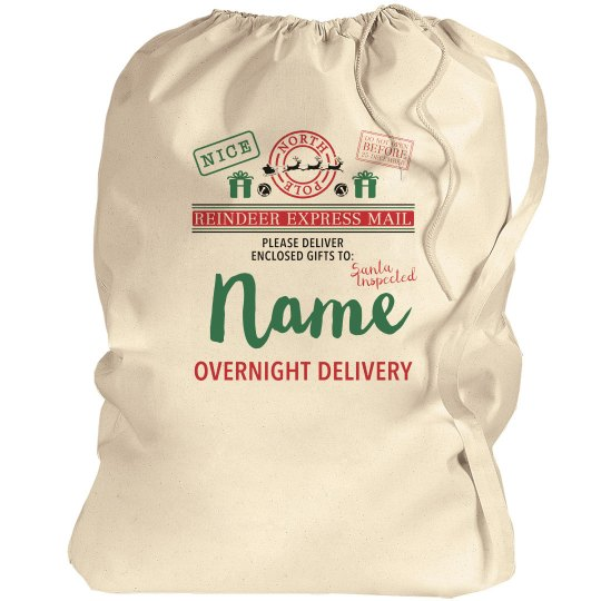 Custom Name Santa Gift Sack