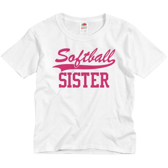 Custom Name Softball Sister