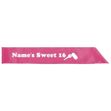 Custom Name Sweet 16 Sash