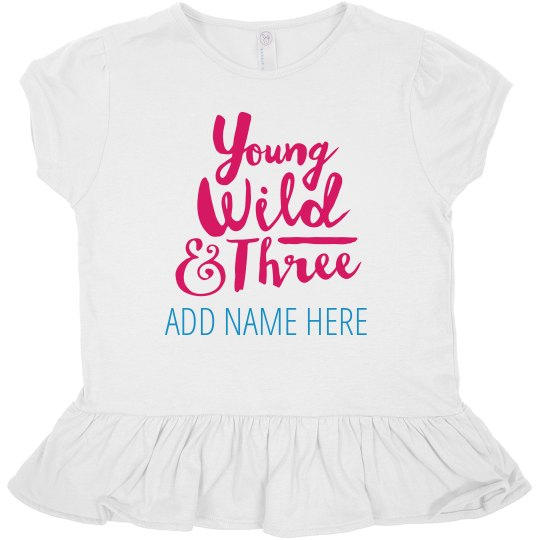 Custom Name Three Year Old Birthday