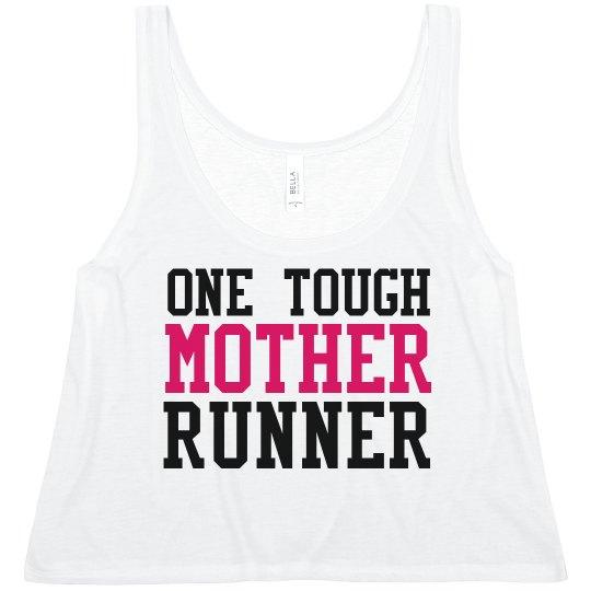 Custom Name Tough Running Mom