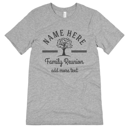 Custom Name Tree Reunion Top
