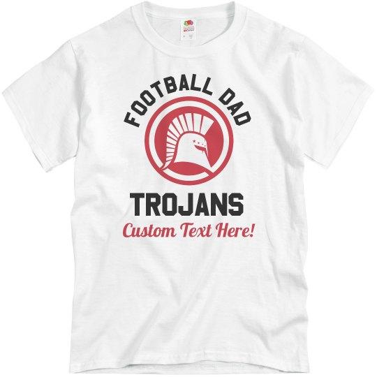 Custom Name Trojans Football Dad