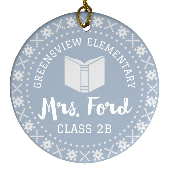 Custom Name Unique Teacher Gift