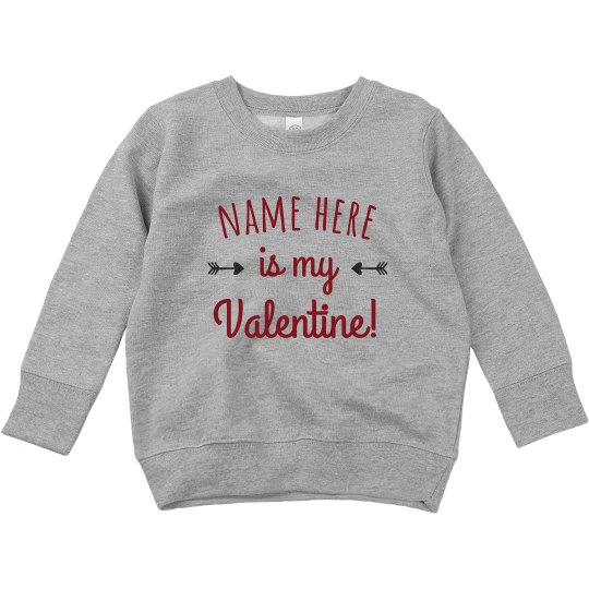 Custom Name Valentine Toddler Sweater