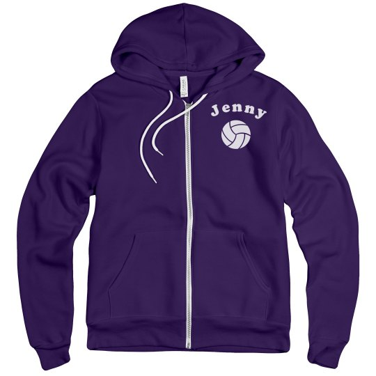 Custom Name V-Ball Hoody