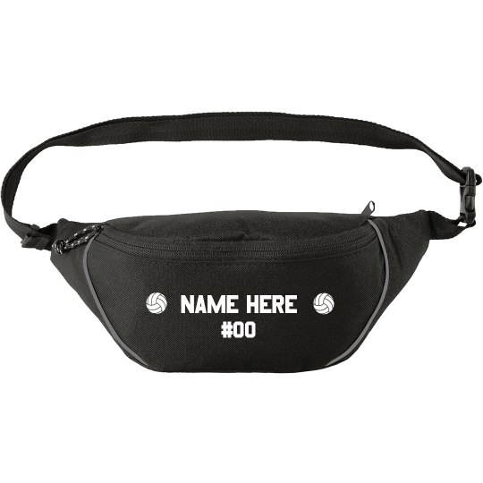 Custom Name Volleyball Number Fanny Pack