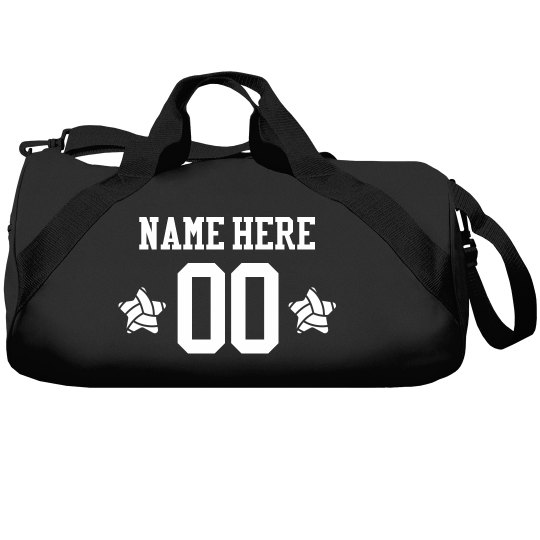 Custom Name Volleyball Star Bag
