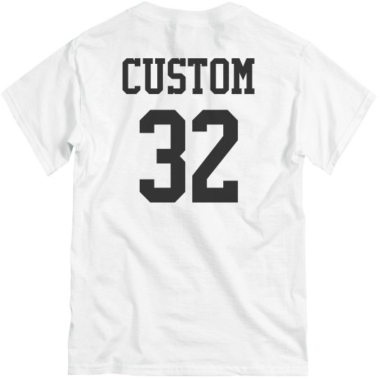Custom Name/Number Volleyball Back