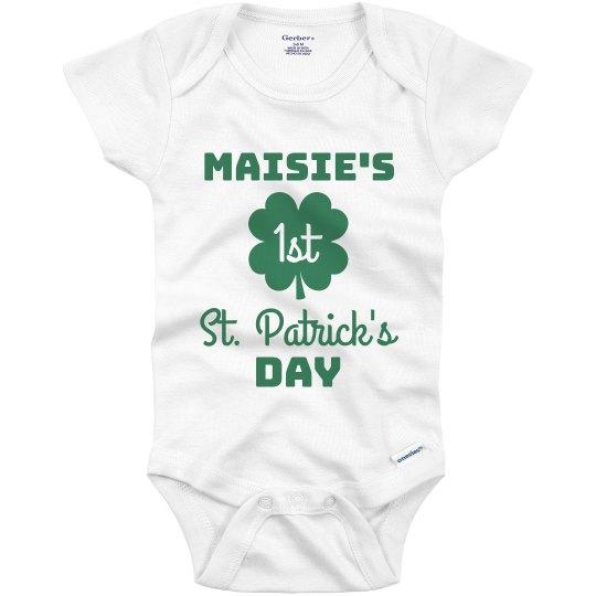 Custom Name's 1st St. Patrick's Day