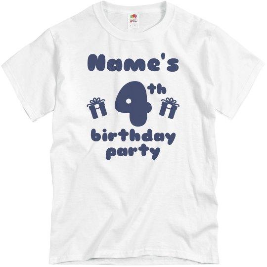 Custom Name's 4th Birthday