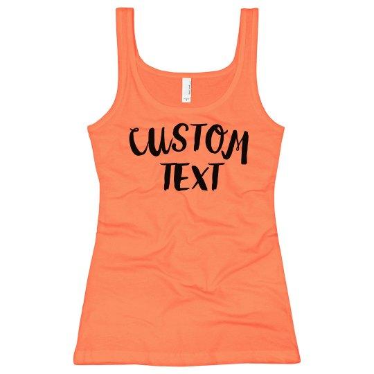 Custom Neon Tank Top
