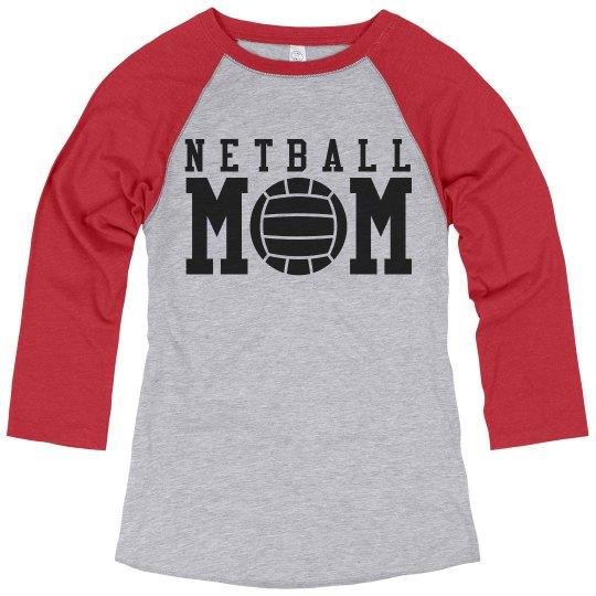 Custom Netball Mom Shirt With Custom Name Number
