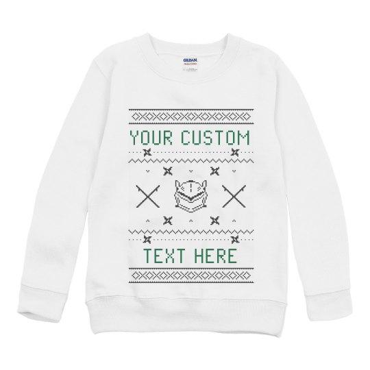 Custom Ninja Video Game Ugly Sweater
