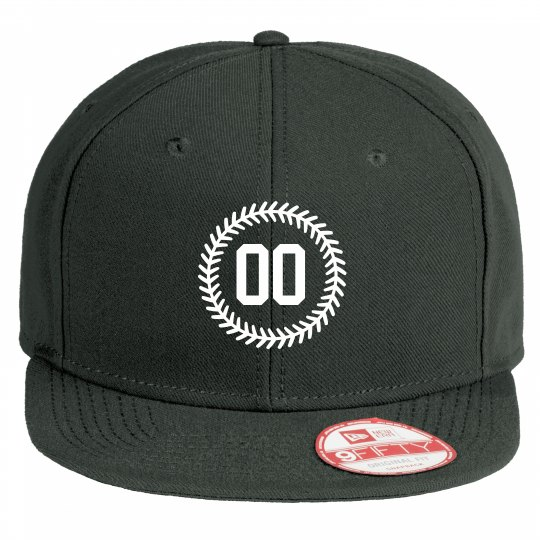 Custom Number Baseball Stitch Flat Bill Hat