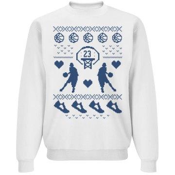 Custom Number Basketball Mom Ugly Christmas Sweater