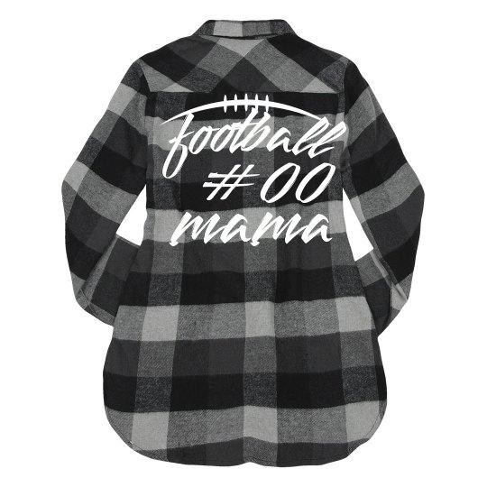 Custom Number Football Mama