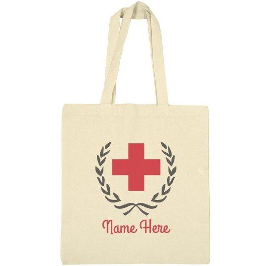 Custom Nurse Badge Travel Tote Bag