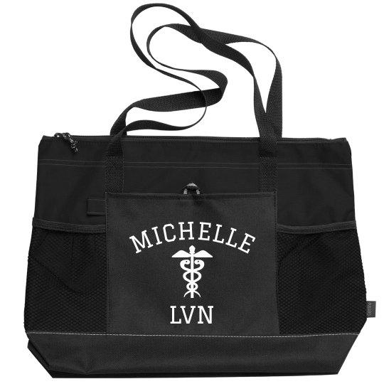 Custom Nursing Professional Nurse Tote Bag