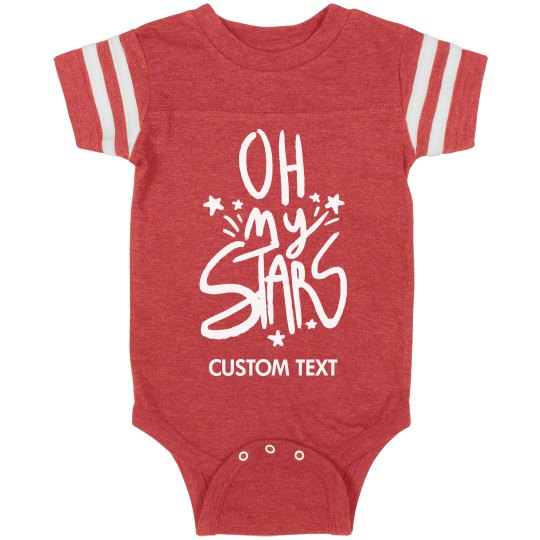 Custom Oh My Stars Sporty Bodysuit