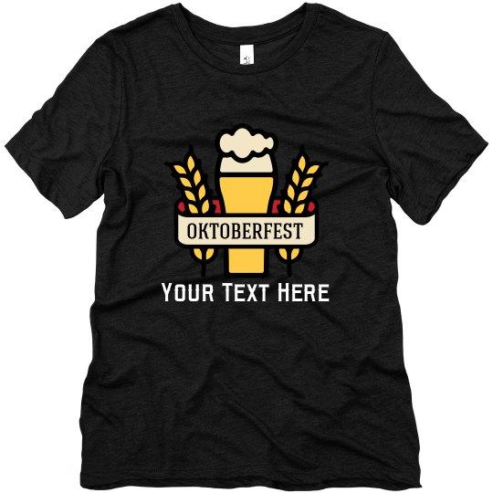 Custom Oktoberfest Beer Glass Tee