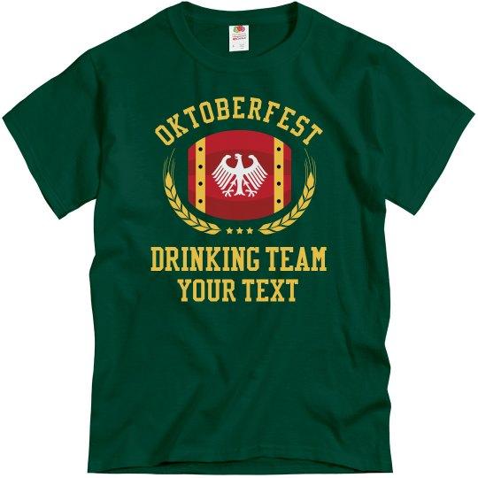 Custom Oktoberfest Drinking Teams