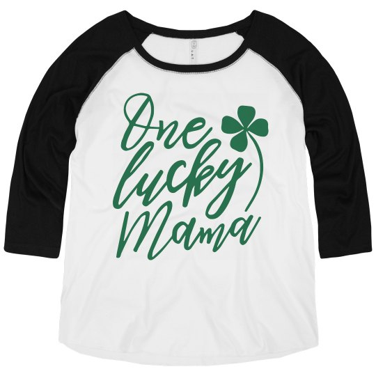 Custom One Lucky Mama Plus Size