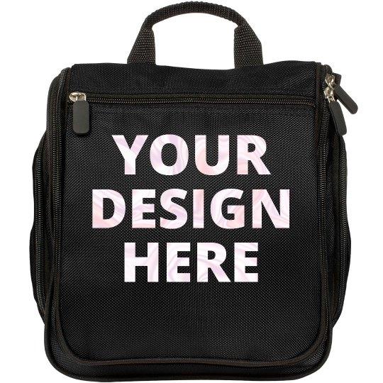 Custom Opal Rose Foil Makeup Bags