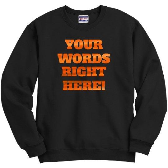 Custom Orange Metallic Text Designs